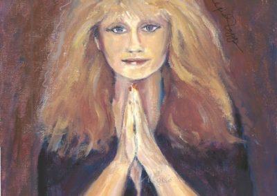 """""""Alexis: Self Portrait"""" oil on masonite Private Collection"""