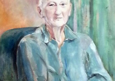 """""""Grandpa Bill"""" oil on canvas SOLD"""