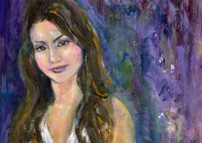 """Portrait of Lily"" oil on Masonite Private Collection"