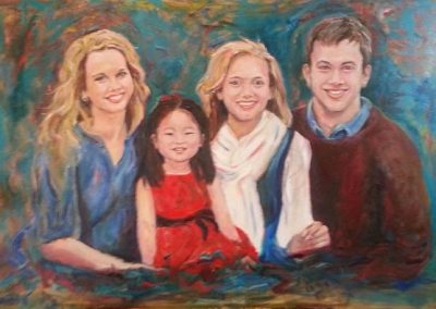 """Williams Family Portrait"" oil on canvas SOLD"