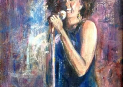 """Singing the Blues"" oil on masonite SOLD"